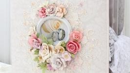 Большой свадебный фотоальбом ручной работы В наличии