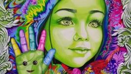 Серия картин ′Цветные чувства′
