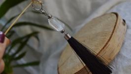 Брелок, подвеска- кисточка с горным хрусталем ′Кристалл′