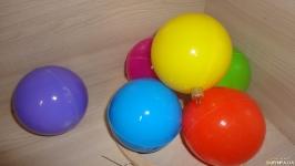 Новогодняя игрушка шар цветной 8 см 6 цветов