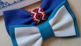 Метелик краватка з тканини подвійний