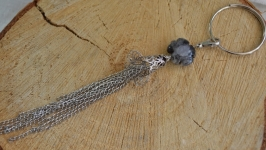 Брелок, подвеска  с лаврикитом  ′Горные цветы′