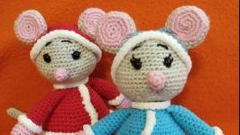 Мышка снегурочка и мышонок дед мороз