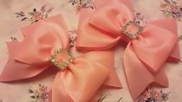 Бантики-заколки розовые