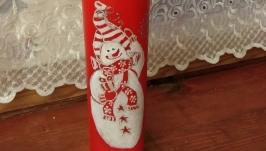 бутылка ′Семейка снеговиков приносит радость′