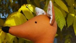 Лиса-интерьерная текстильная игрушка