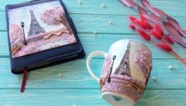 Набор ежедневник с фарфоровой чашкой
