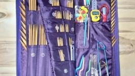 Набор 226шт. Спицы чулочные бамбуковые, крючки и инструменты