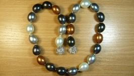 Жемчужное ожерелье разноцветное