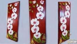 панно-ключниця ′орхідеї′