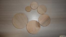 Заготовка деревянная круглая 3 - 8 см