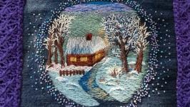 Муфта зимний пейзаж