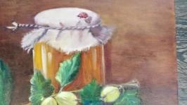 Картина ′Натюрморт з агрусом, полотно, олія, мастехін′