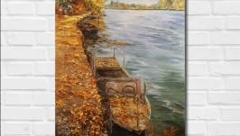 Картина маслом ′Осень′, 30х40 см