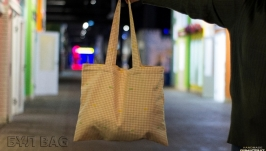 Эко сумка, шоппер ′Розовая Клеточка′