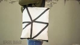 Эко сумка шоппер ′Черно белая абстракция′
