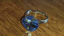 Кольцо безразмерное Swarovski
