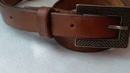 Кожаный ремень ручной работы