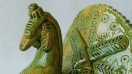 Птица из керамики ′Индюк-оберег′