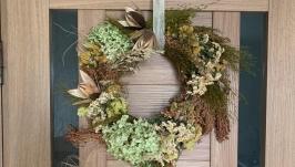 венок на дверь из НАТУРАЛЬНЫХ сухоцветов