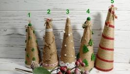 Новогодний декор из джута - елка