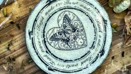 Разделочная доска ′Бабочка на снегу′