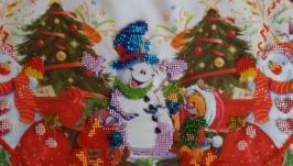 Юбка под елку′Веселые снеговики′