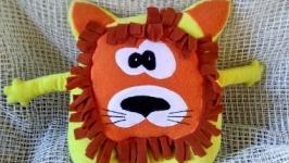 Львенок подушка-игрушка