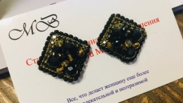 Серьги -ромбы (гвоздики)