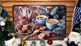 Дубовая разделочная доска «Горячий шоколад»