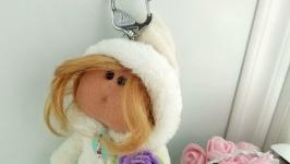 Keychain doll Doll keychain on bag Hangbag charm Backpack keychain Handmade