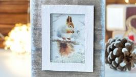 открытка-шейкер ′Белка′