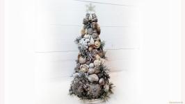 Декоративная новогодняя елка в эко-стиле «Зимняя красавица»