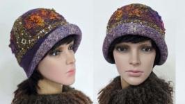 шляпка ′Ванда′ - авторский войлок , ручная работа.