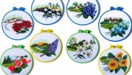 Пейзаж с цветами ′Времена года′