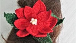 Шпилька для волосся різдвяна квітка