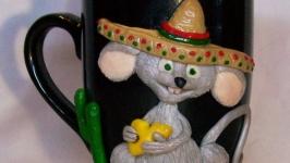 Кружка с декором ′Мышь в сомбреро′