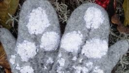 рукавички валяні