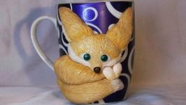 Чашка с декором ′Лисичка′