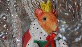 Ватная игрушка мышка