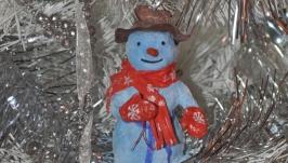 Ватная игрушка Снеговик