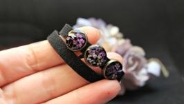 Двойной браслет или чокер с настоящими цветами