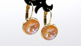 Серьги ′Swarovski Peach DeLite Классика′  позолота хрусталь