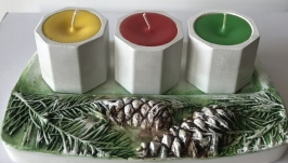 Свеча и подсвечник Новый год!