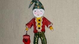 Рождественский Гном с варежкой