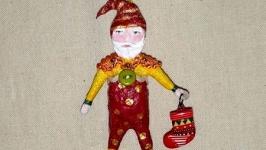 Рождественский Гном с носком