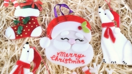 Набор коллекционных ёлочных игрушек с Санта Клаус