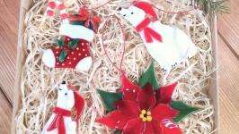 Набор коллекционных ёлочных игрушек с Рождественником