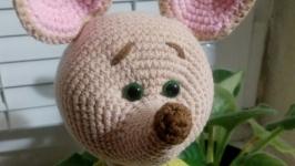 Мышонок Норберт, вязаная игрушка символ 2020 года, вязаный мышонок