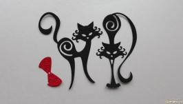 Вырубка ′Котики′ , Высечки, декор для скрапбукинга